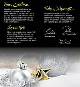 Weihnachtskarte-Website